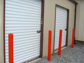 picture of the 7ft doors to the storage units