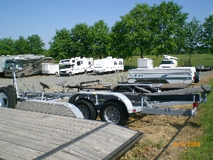 outdoor parking for trailers and RVs